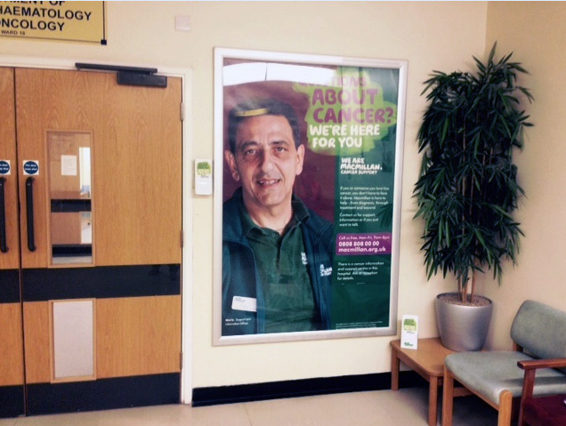 Hospital advertising for Macmillan, poster