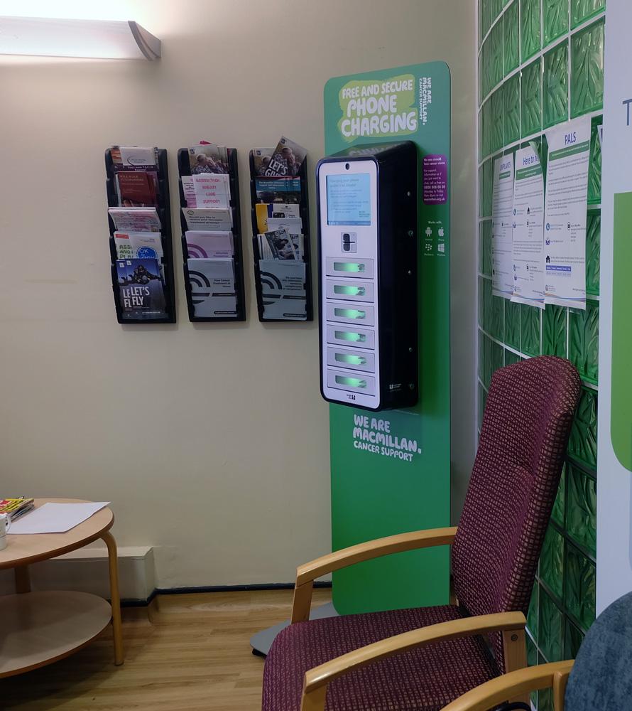 Halton Hospital charging unit - hospital media