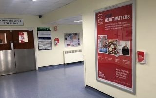 healthcare advertising posters- Pulse Outdoor Media - British Heart Foundation Cardiology