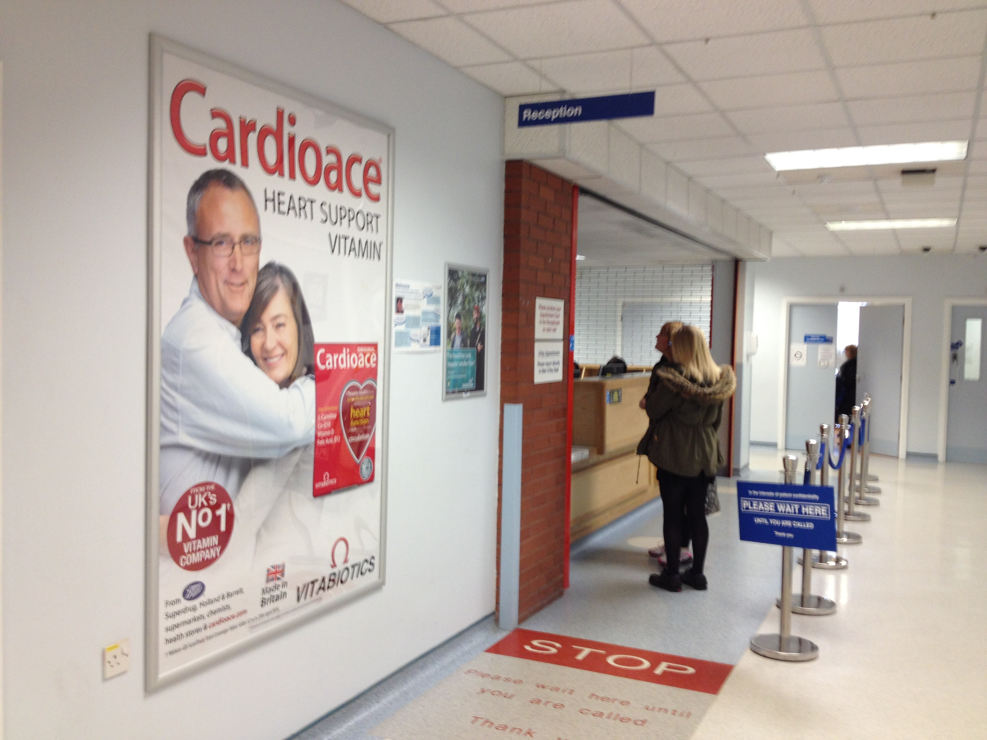 Cardiace poster in hospital out-patients department