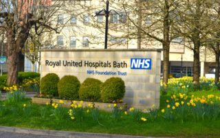 RUH Bath entrance sign